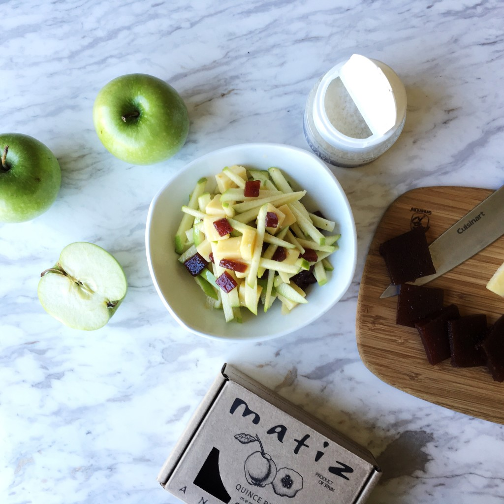 Green Apple Manchego Quince Paste Salad