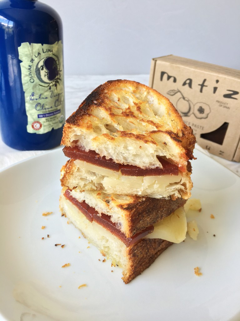 Grilled Manchego Cheese and Matiz Quince Paste Sandwiches