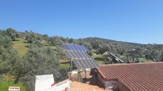 New solar panels by the olive groves