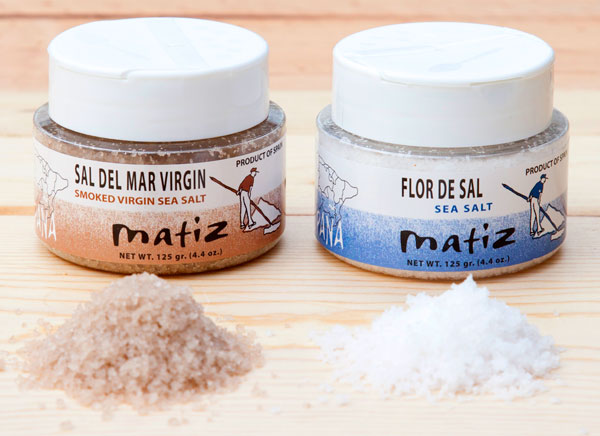 Matiz virgin smoked salt & flor de sal
